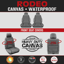 Holden Rodeo RA Single Space Dual 2003-08 TRADIES Front Grey Canvas Seat Covers