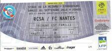 Ticket billet karte stub Racing Club Strasbourg Nantes FC 1.9.18