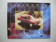 Dodge Export Range brochure Incl. Mirada English text 28 pages 1982