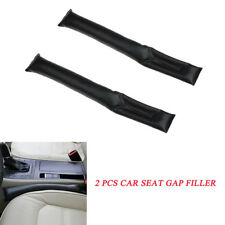 2 pcs Black Leather Car Seat Gap Filler Accessory Cover Spacer For Car Trunk