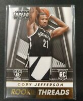 CORY JEFFERSON RC 2014-15 Panini Threads Prime /25 2 Color Jersey #35 Rookie