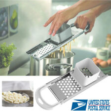 Stainless Steel Blade Kitchen Spaetzle Noodle Dumpling Maker W/ Safety Hopper US