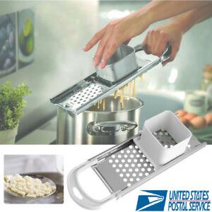 Stainless Steel Blade Kitchen Spaetzle Noodle Dumpling Maker W/ Safety  US