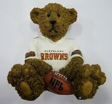 Cleveland Browns NFL Football Ceramic Mini Teddy Bear Figurine by Elby Gifts