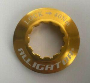ALLIGATOR Bicycle Centerlock Rotor 9mm Lock Ring for Shimano Hub - Color: Gold.
