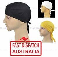 Fitted Bandana Cotton Dorag Chef Du-rag Durag Biker Helmet Liner Hat Headwrap