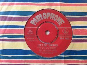 """THE VERNONS GIRLS """"let's get together"""" orig UK 1961 PARLOPHONE label 7"""""""