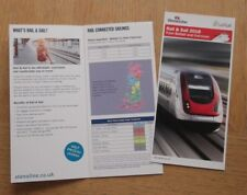 Stena Line Rail & Sail From Belfast & Cairnryan Ferry Timetable Booklet 2018 NEW