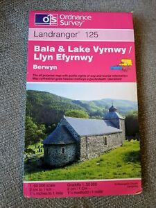 Bala & Lake Vyrnwy (Berwyn-Bala a Llyn Efyrnwy) OS Map Landranger 125 Pink