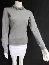 Maglie e camicie da donna a manica lunga grigio seta