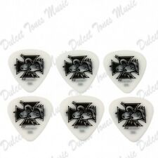 6 x Dunlop BLACKLINE MEDIUM-LIGHT .60 mm Guitar Picks Plectrum Kozik Eyes Cross
