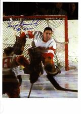 """Terry Sawchuk """"Mr. Zero"""", All-Time Great Goalie """"Making the Save""""-very Rare!"""