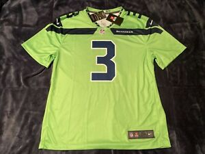 Russell Wilson Color Rush Legend Neon Green Seahawks Jersey - M,XL