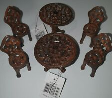 Small Oil Rust 1 Table & 2 Chairs Ornaments 115025 2 Sets