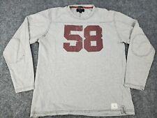 Men's Large American Eagle Long Sleeve Shirt Sweater Sweatshirt Gray #58 VTG