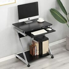 More details for small compact computer desk laptop pc table keyboard tray storage workstation uk