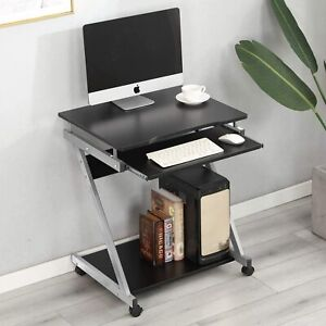 Small Compact Computer Desk Laptop PC Table Keyboard Tray Storage Workstation UK