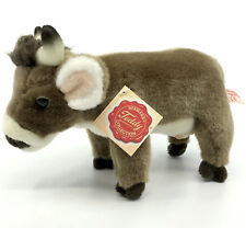 Hermann Teddy Plush Farm Cow Soft Toy 22cm 9in Hang Tag Seam Label Udder Horns