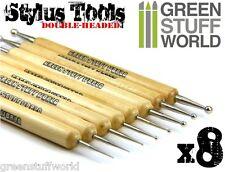 Set 8x Herramientas STYLUS - Bolas Burnishers para Esculpir y Modelar Warhammer