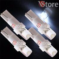 4 Lampade LED T5 BIANCO Luci Per Quadro Strumenti e Posizione CONCAVE Fari 5W