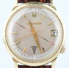 Bulova Accutron Vintage Men's 14k Yellow Gold Watch Movement 218 w/ Leather Band