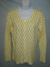 White Stag Yellow Button Up Light Weight Sweater Size Small  #CL110