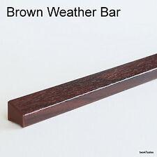 BROWN Weather Rain Deflector Drip Bar upvc Door Window wood guard weatherbar pvc