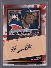 2011-12 ITG Enforcers Autographs #APW Peter Worrell Auto