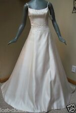 NEW Maggie Sottero Light Ivory Peach Cream Bridal Gown Wedding Dress Size 10 12