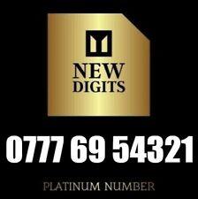 EXCLUSIVE BUSINESS GOLD VIP MOBILE NUMBER PLATINUM UNIQUE SIM CARD 777 69 54321