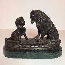 "Vintage G. Ferrad Bronze Sculpture Titled ""Can't You Talk"""