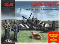 ICM 48801 - 1/48 British Fighter Aircfraft with Raf Pilots Spitfire MK.IX, scale