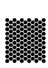 High Detail Honeycomb Airbrush Stencil - Free UK Postage