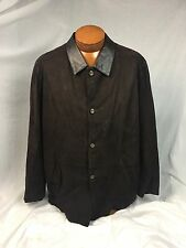 * Remy * Butter Soft Brown Leather Car Coat 46 Made in USA! Late Year Model