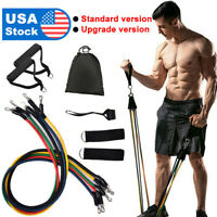 11 Pieces Resistance Trainer Set Exercise Fitness Tube Gym Workout Bands