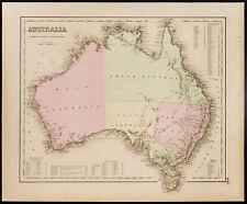 Carta antica (1857) Australia, Colton. Antico Mappa of Australia