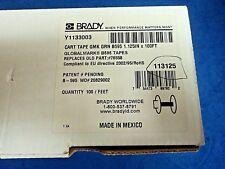 """Brady 113125 Green B595 1.125"""" x 100ft Tape Cartridge"""