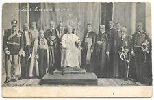 RARE La Saint-Pere Avec Sa Cour POPE PIUS X (1903-1914) POSTCARD FOTO POSPISIL