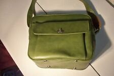 Vintage Samsonite Silhouette Green Carry On Overnight Luggage Bag / Tote