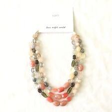 Ann Taylor LOFT Three Strand Stone Necklace