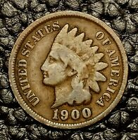 1900 Indian Head Cent ~ Good (GD) Condition ~ $20 ORDERS SHIP FREE!