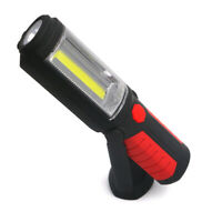 Magnetic LED COB Inspection Work Light Lamp Flashlight USB Rechargeable Torch