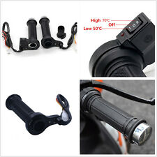 2 Pcs 12V Rubber&Plasic Motorbike Quad Heated Hot Warm Hand Grips Handlebar 7/8'