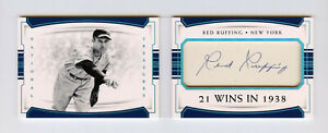 Red Ruffing 2018 National Treasures 4/5 Cut Signatures Booklet Auto Sp Legendary