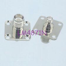 1pce Adapter RP.TNC female plug to SMA jack 25.4mm 4-holes flange panel mount