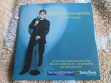 283.  Elton John One Night Only (The Valentine Sampler) Enhanced UK CD Single