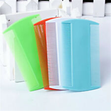 2pcs Hair Combs Kids Flea Fine Tooth Head Lice Pet Plastic Double Sided Nit