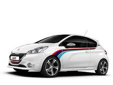 Peugeot 208 GTi Rally striscia laterale decalcomanie grafiche adesivo pegatina