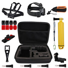 Accessories Kit Chest Head Mount+Case+Floating Wrist Strap for GoPro Hero 3/3+/4
