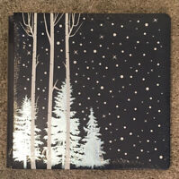NEW Creative Memories 12x12 Coverset ~ FROST ALBUM ~ Winter Blue Navy Pine Tree